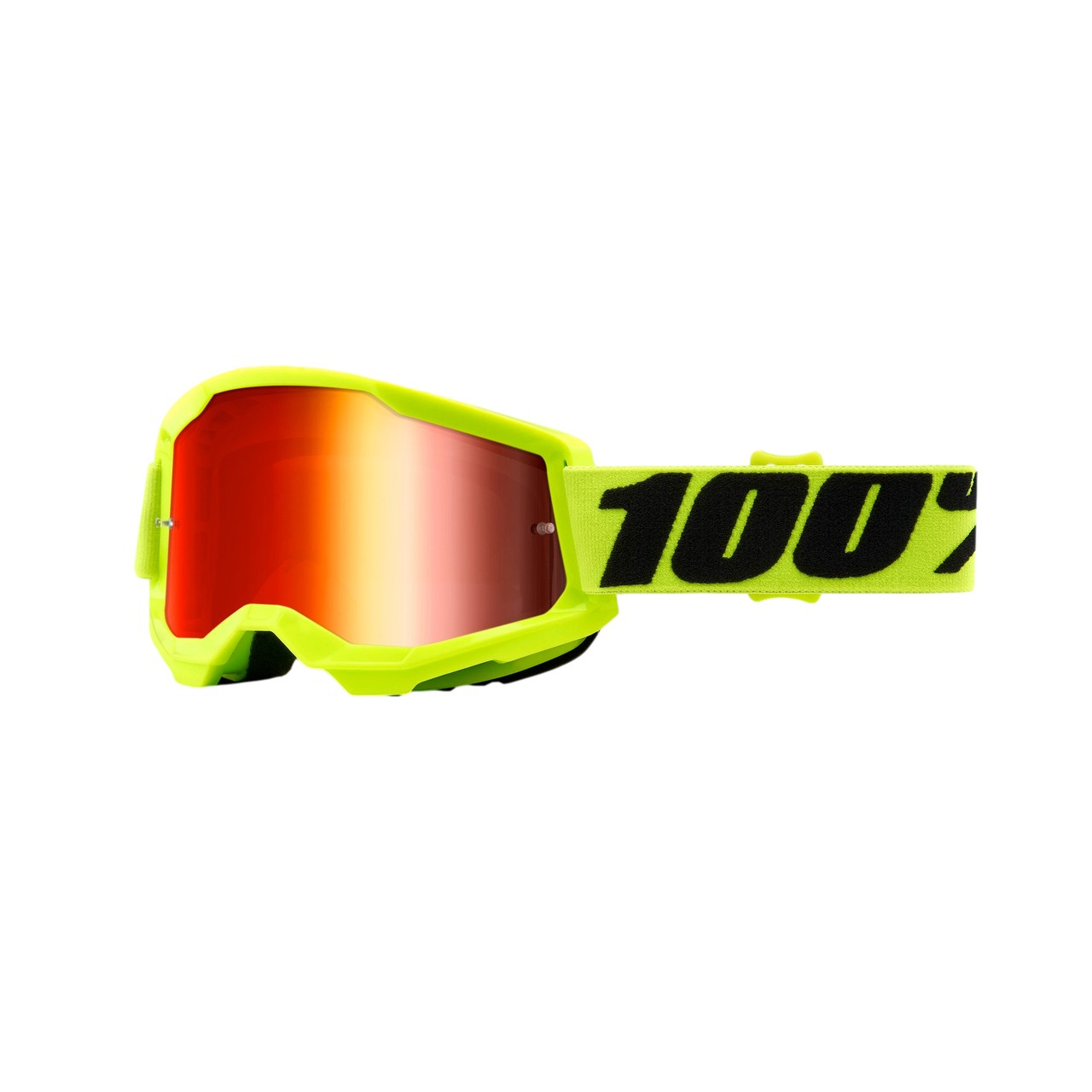 Óculos 100% Strata 2 Fluo Yellow Espelhada