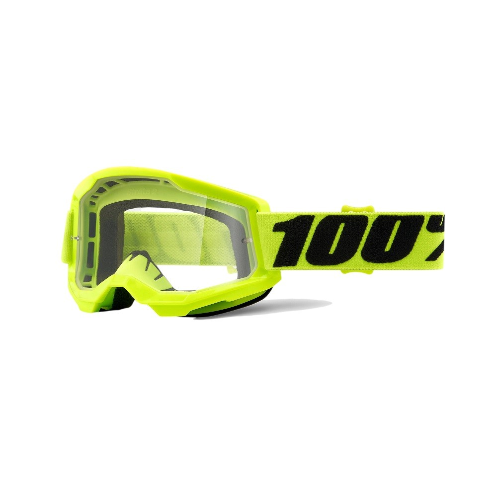 Óculos 100% Strata 2 Fluo Yellow Lente Transparente