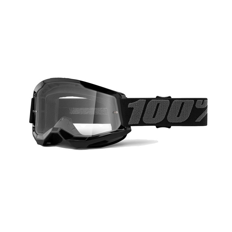 Óculos 100% Strata 2 Jr Infantil Black Lente Transparente