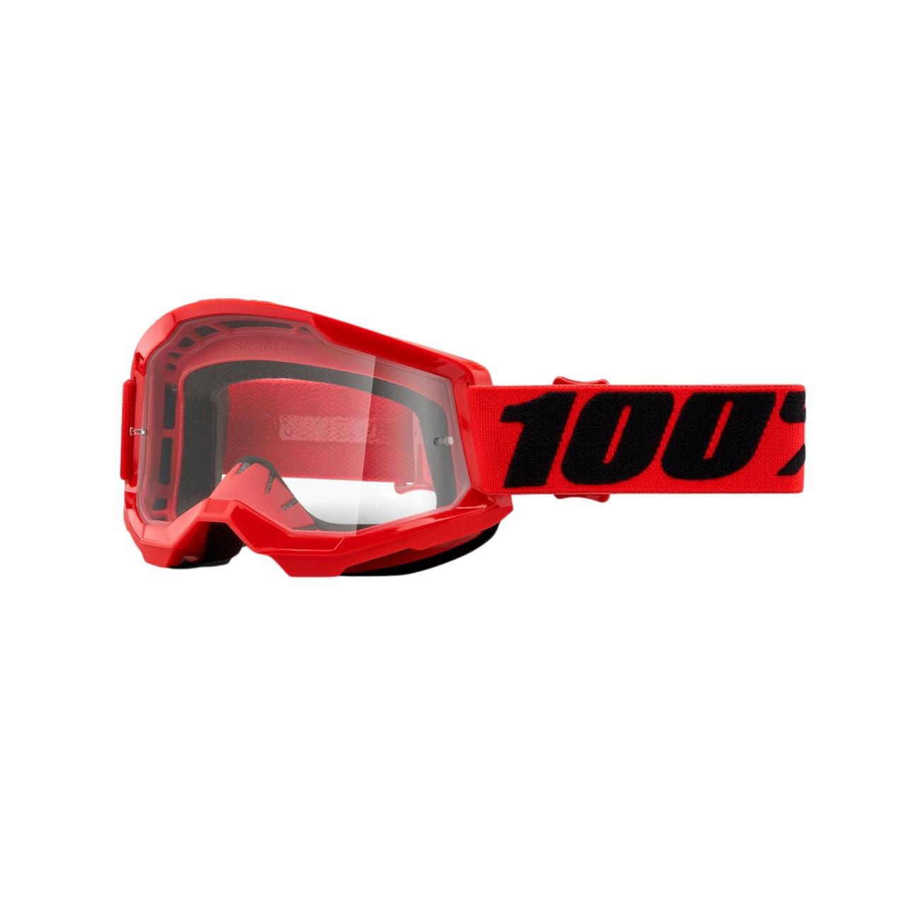 Óculos 100% Strata 2 Red Lente Transparente
