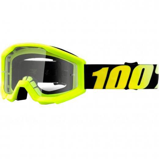 Óculos 100% Strata Neon Yellow Lente Transparente
