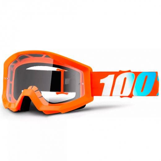 Óculos 100% Strata Orange Lente Transparente