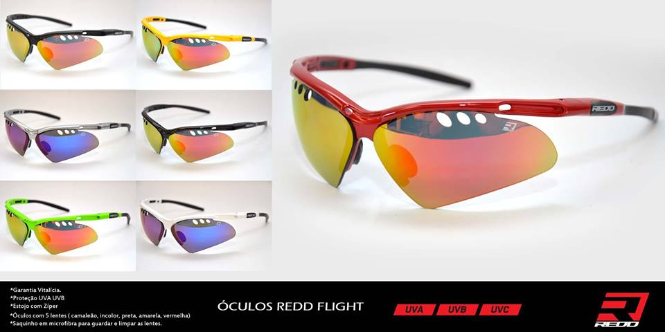 Óculos Bike REDD Flight com 5 Lentes Intercambiáveis