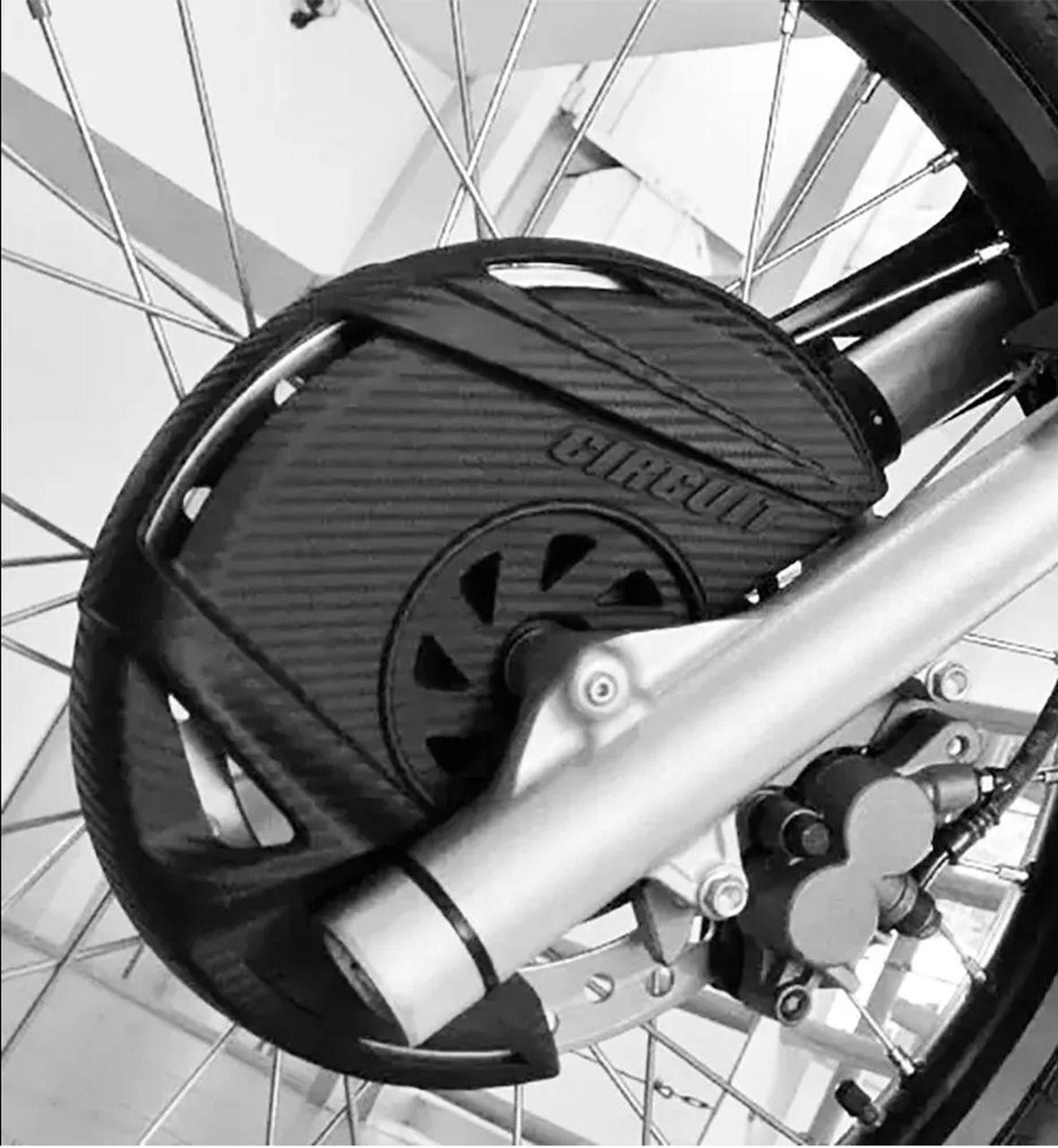 Protetor de Disco de Freio Dianteiro Circuit CRF 250F / XRE 300 Carbon