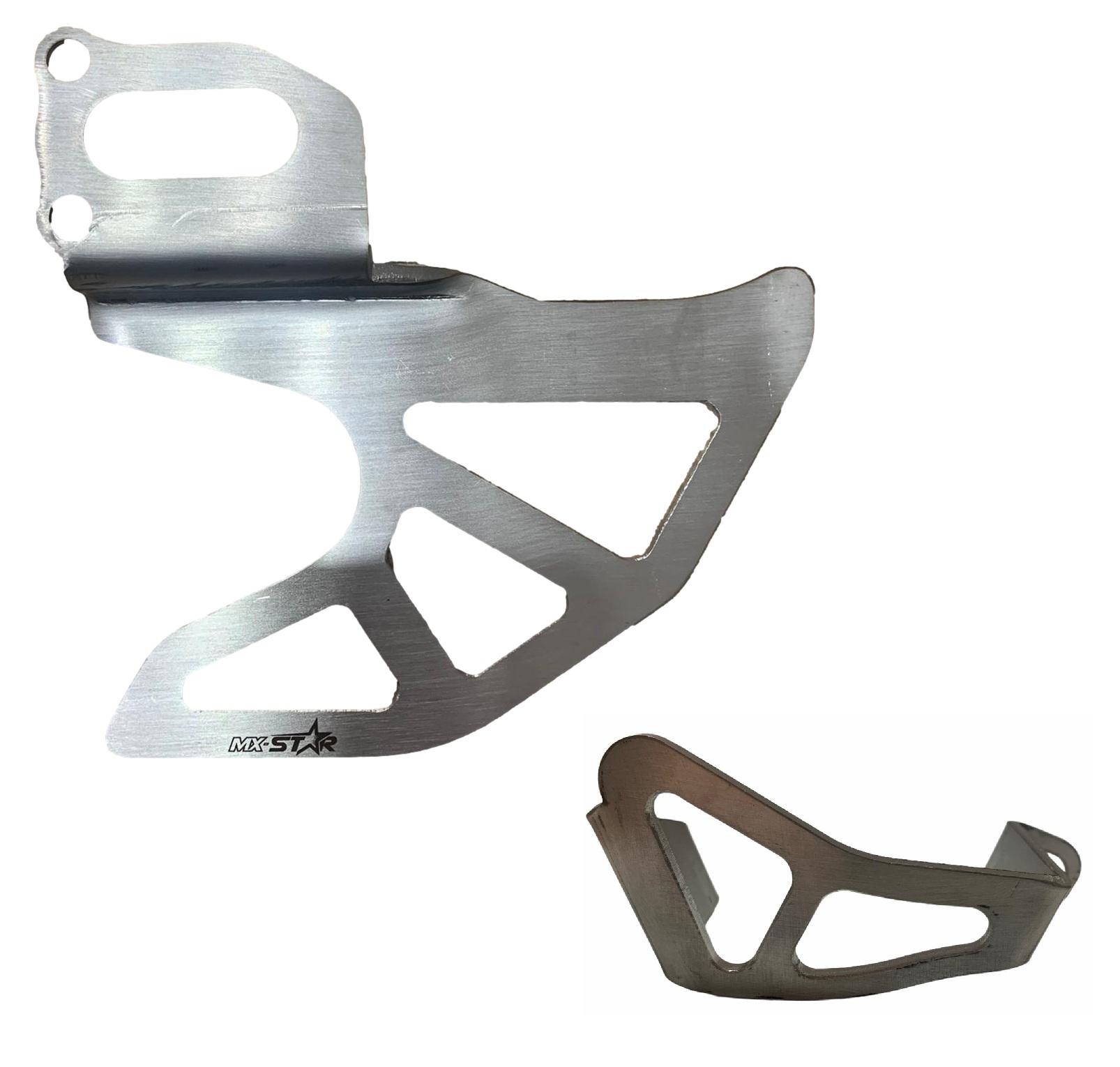 Protetor de Disco + Pinça Traseiro MX Star Honda CRF250F - Prata