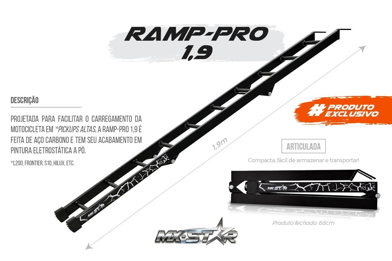 Rampa para Carregar Motos Dobrável MX Pro 1,9m