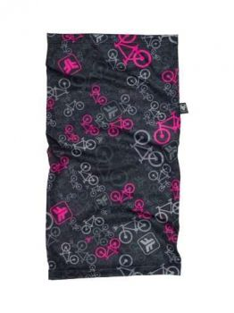 BANDANA FREEFORCE MULTIUSO MULTIHEAD BICYCLE PRETA E ROSA