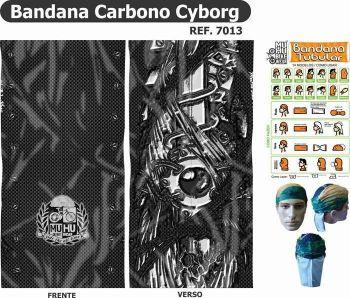 BANDANA MUHU CARBONO CYBORG