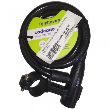 CADEADO ESPIRAL ELLEVEN 1MX12MM GROSSO COM CHAVE