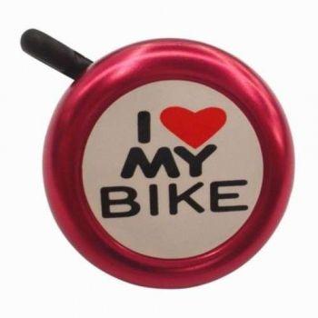CAMPAINHA I LOVE MY BIKE VERMELHA - ISP