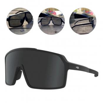 Oculos para Ciclismo HB Grinder Preto Fosco Lente Cinza Gray