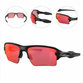 Oculos Para Ciclismo Oakley Flak 2.0 XL Preto Fosco Com Lente Prizm Trail Torch Espelhada Vermelha