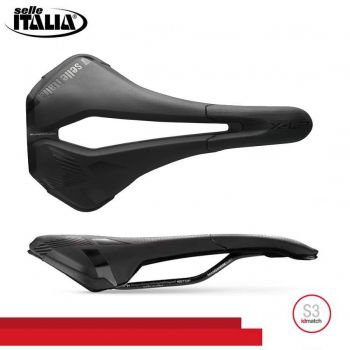 SELIM SELLE ITALIA X-LR TM AIR CROSS SUPERFLOW S3 TRILHO MANGANES PRETO 215G.