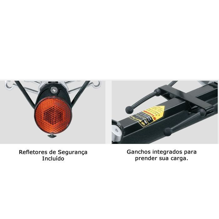 BAGAGEIRO TRASEIRO TOPEAK MTX BEAMRACK EX COM GAVETA PARA CANOTE ATE 7 KG TA2103