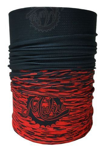 BANDANA MUHU SOLID COLOR BLACK RED