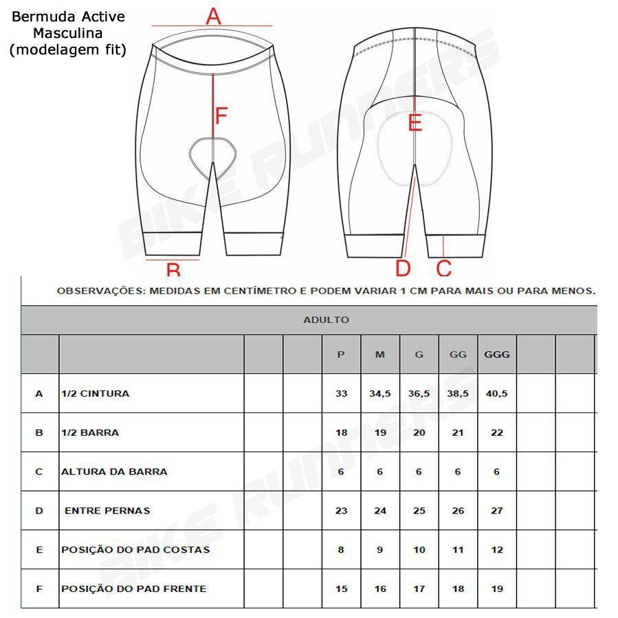 BERMUDA ASW ACTIVE CALEIDO PRETA E AZUL PETROLEO 19