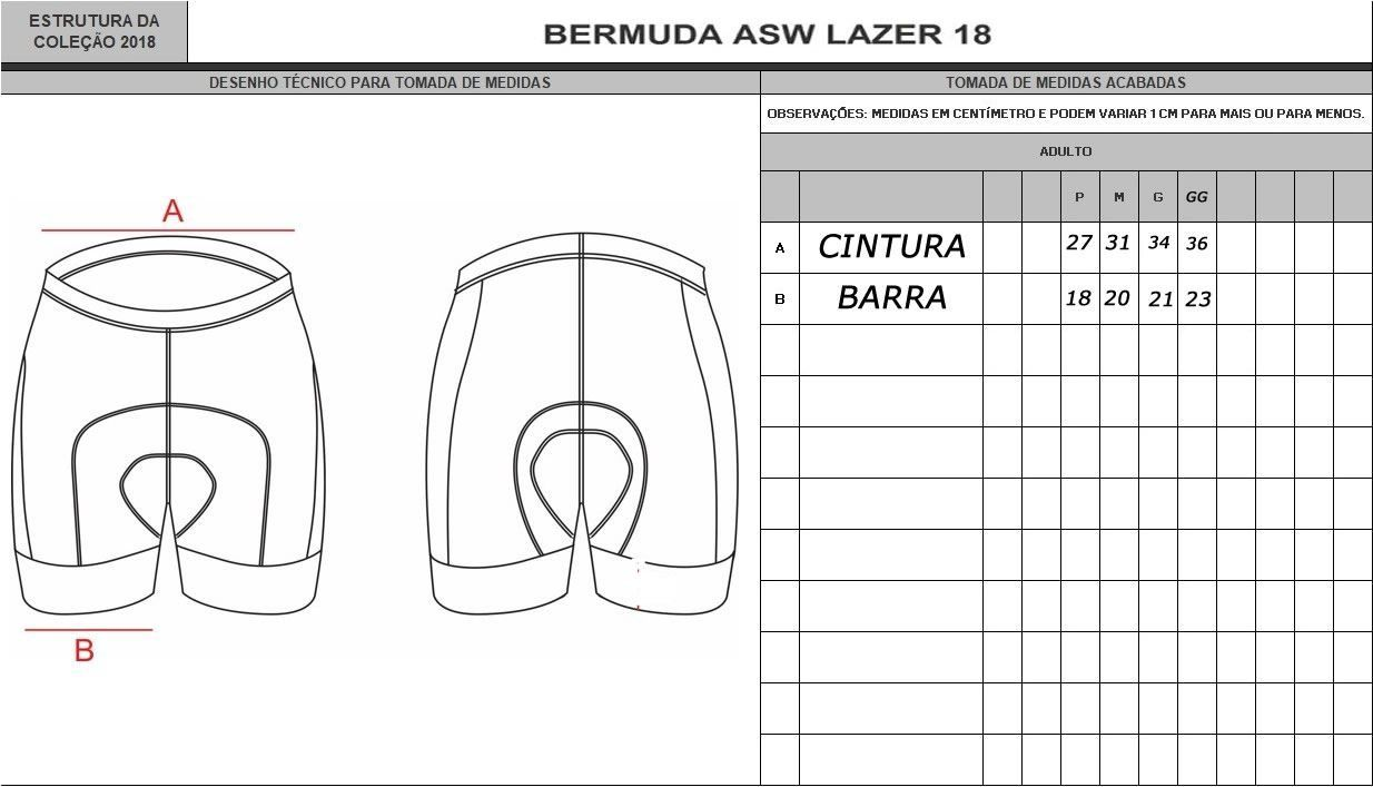 BERMUDA ASW LAZER PRETA 18