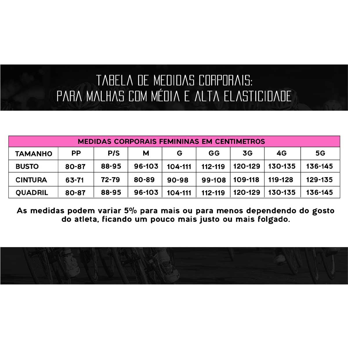 BERMUDA MARCIO MAY FEMININA ELITE CARBON PRETA CICLISMO 20