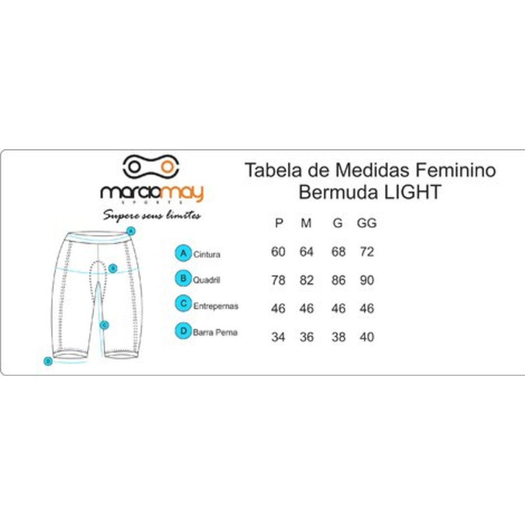 BERMUDA MARCIO MAY FEMININA LIGHT PRETA CICLISMO 19