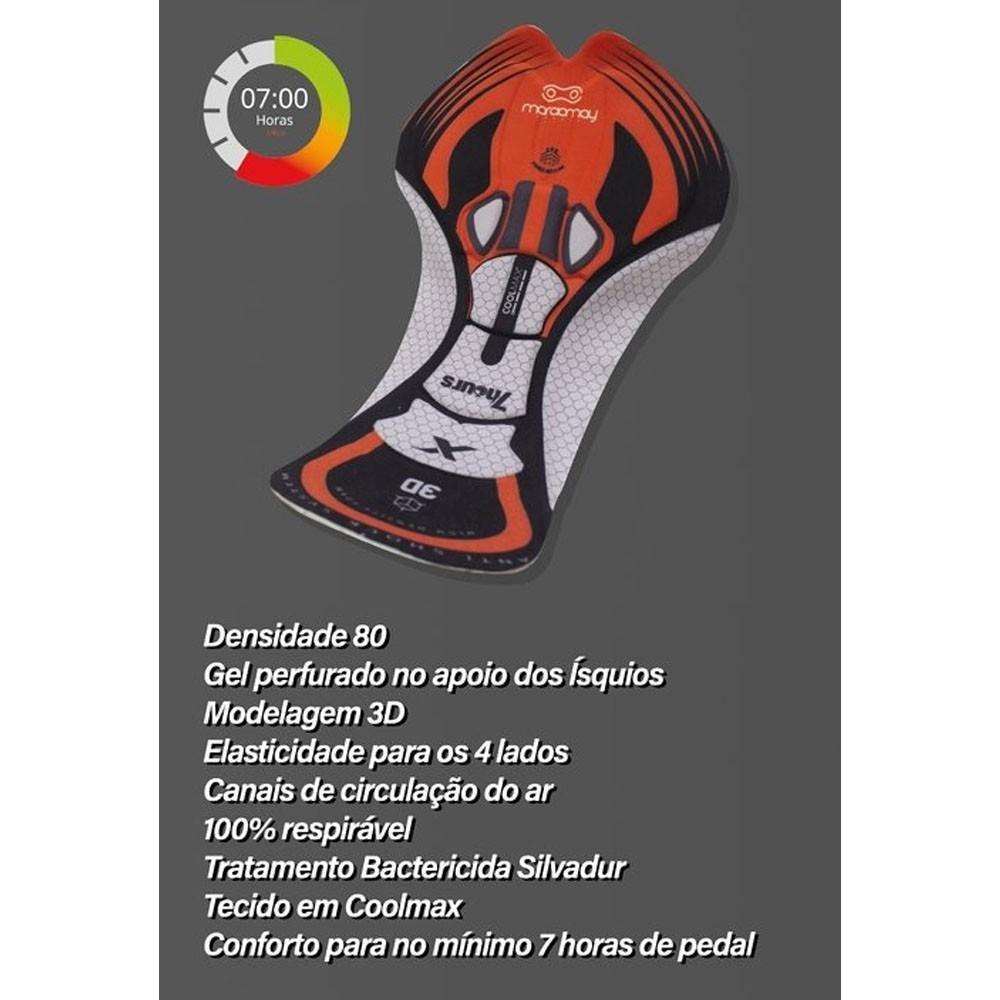BERMUDA MARCIO MAY MASCULINA SPORT WEB ONE PRETA CICLISMO 20