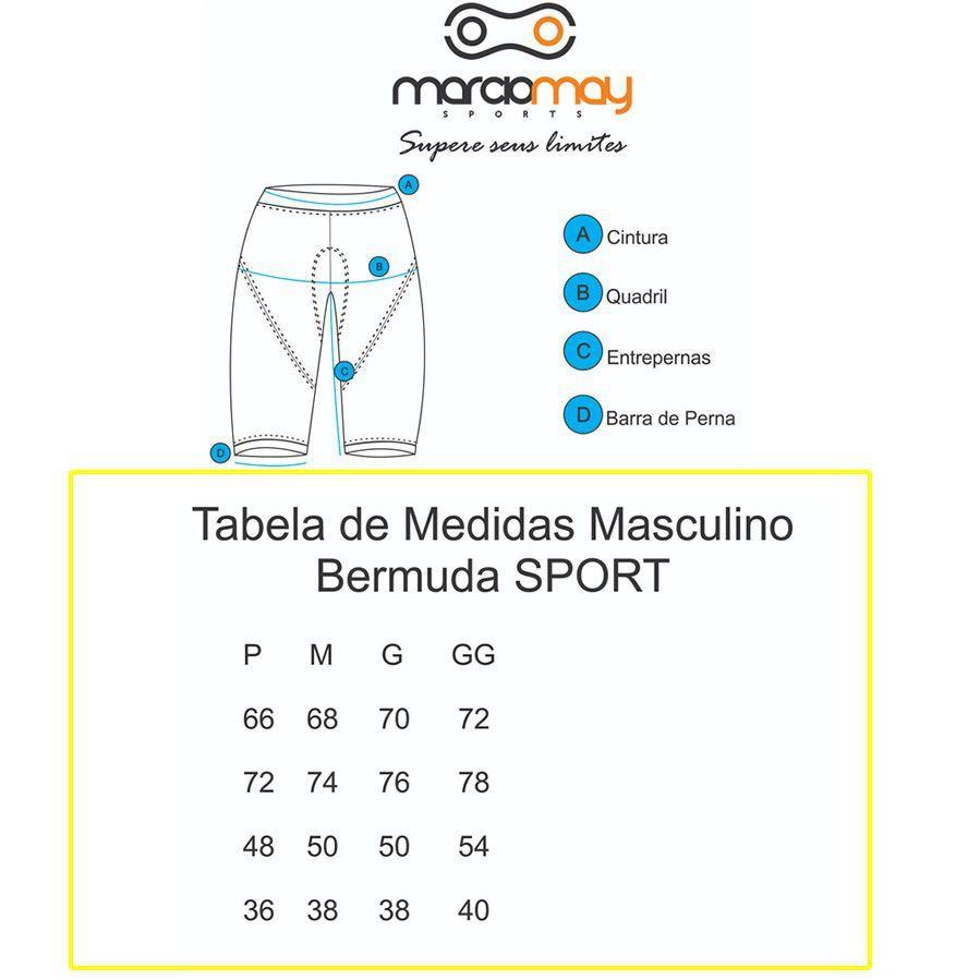 BERMUDA MARCIO MAY SPORT MASCULINA PRETA