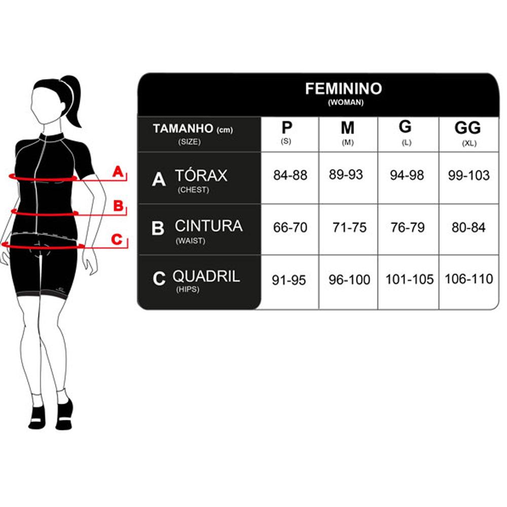 BERMUDA MAURO RIBEIRO FEMININA JUST FREEDOM 2.0 PRETA CICLISMO 21