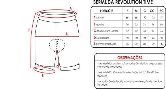 BERMUDA MAURO RIBEIRO REVOLUTION TIME PRETA