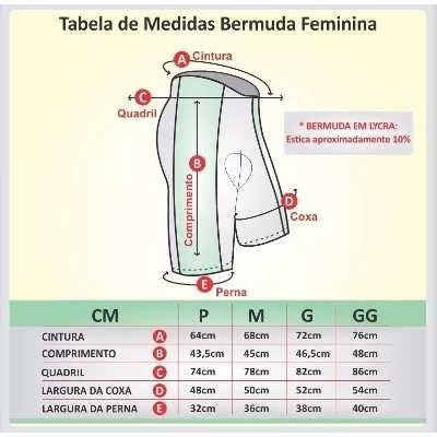 BERMUDA REFACTOR FEMININA MEGA PRETA