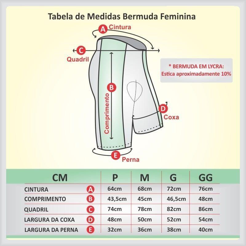 BERMUDA REFACTOR FEMININA MEGA PRO PRETA !
