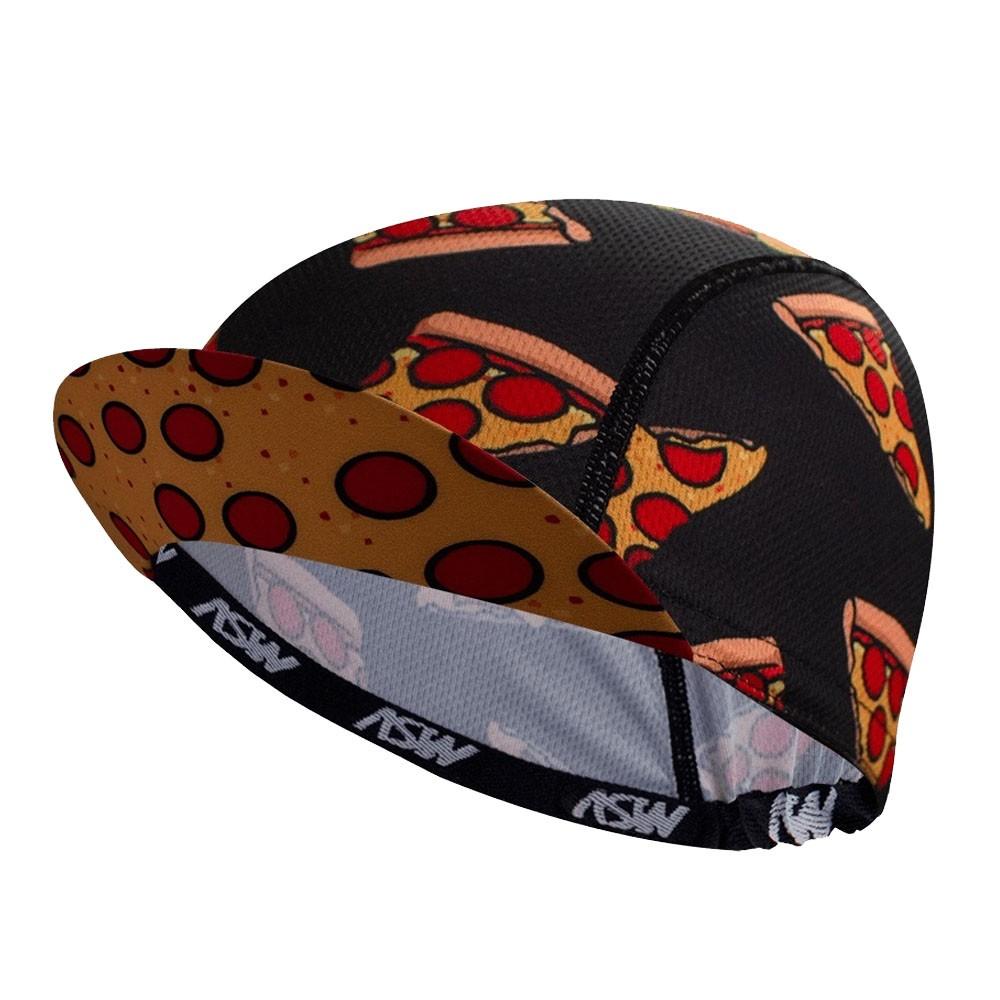 BONE DE CICLISMO CAP ASW PIZZA PRETO