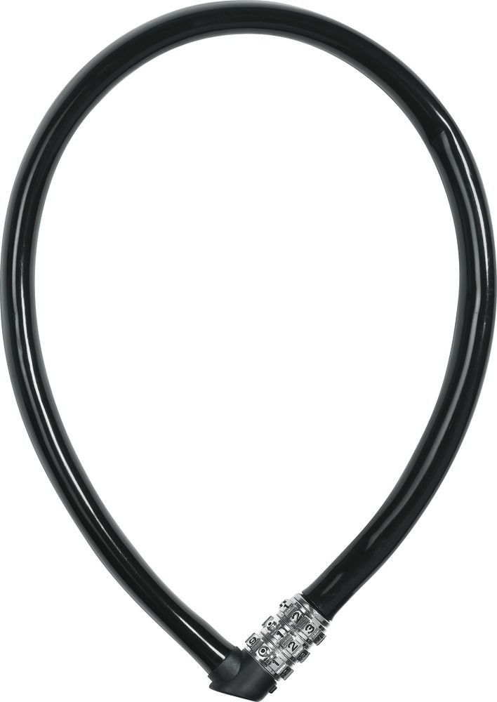 CADEADO ABUS 1100 COM SEGREDO 55CM 6MM PRETO BIKE
