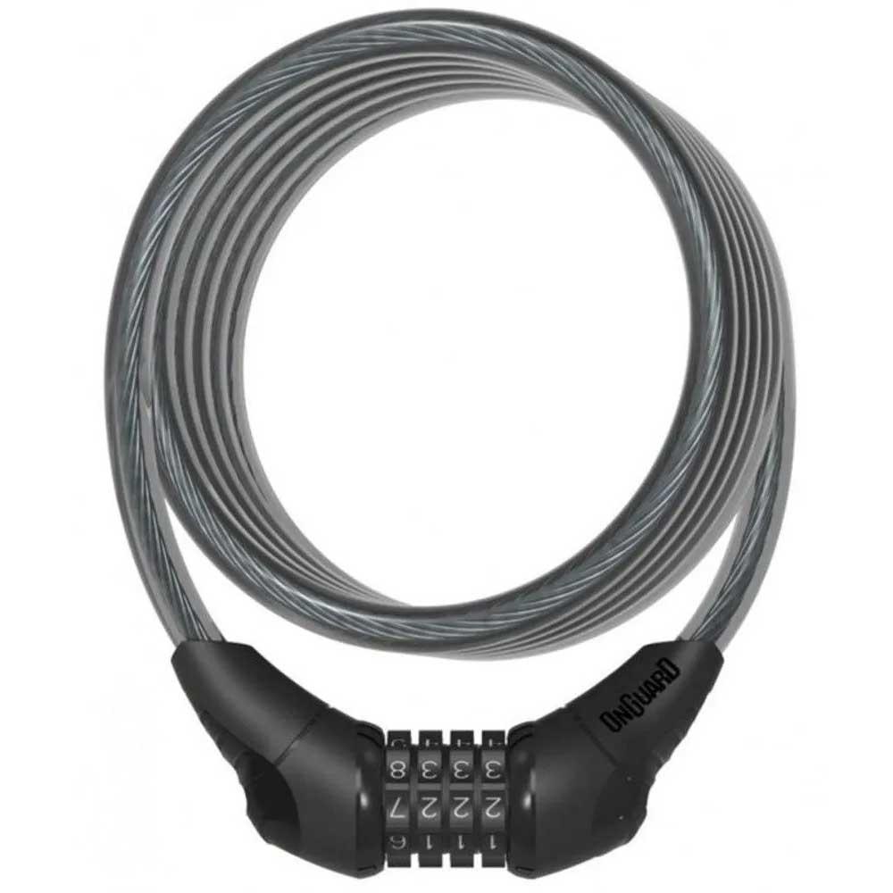 CADEADO ESPIRAL COM SEGREDO ONGUARD NEON 8169 120CMX12MM PRETO - ISP