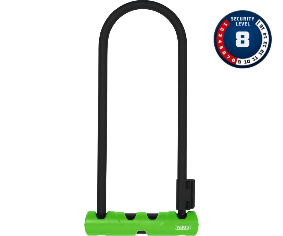 CADEADO TRAVA U-LOCK ABUS ULTRA 410 ´8 - 230X105MM + LOOP CABLE 120CM PRETO BIKE