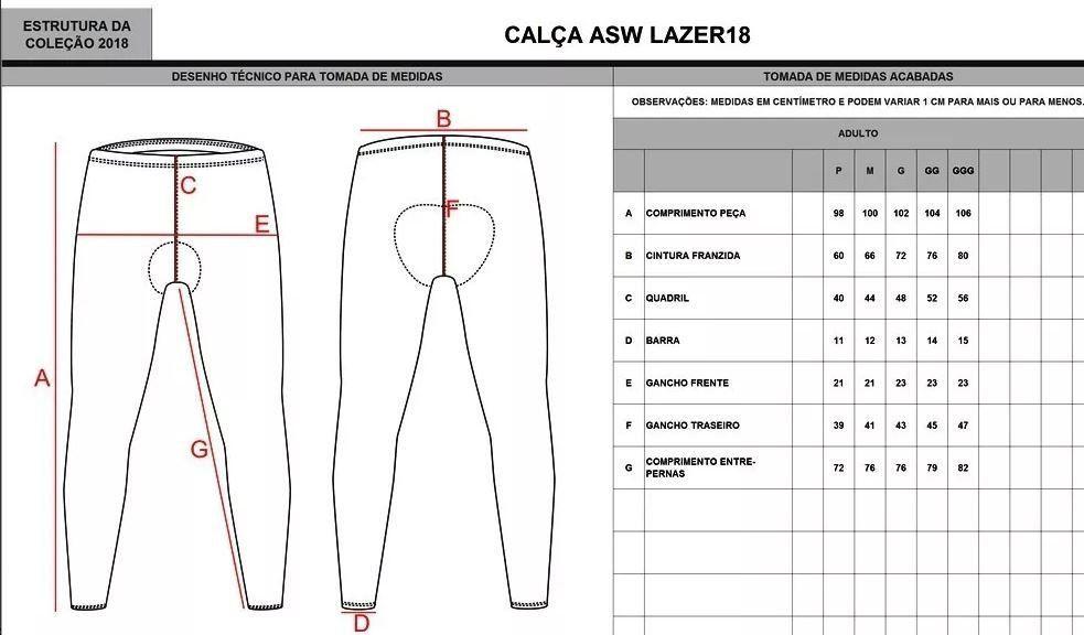 CALCA ASW FUN PRETA 18