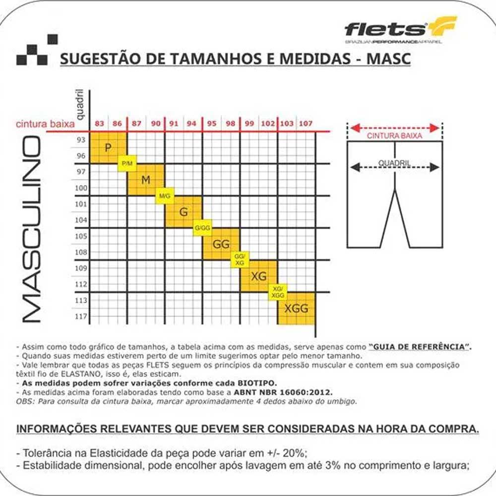 CALCA FLETS MASCULINA BASIC COMPRESSION PRETA COM F ESTANHO NEW CICLISMO