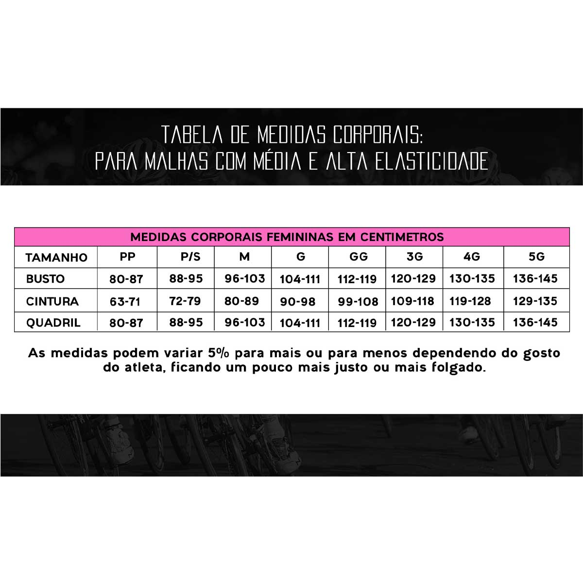 CALCA MARCIO MAY FEMININA COMFORT PRETA CICLISMO 19