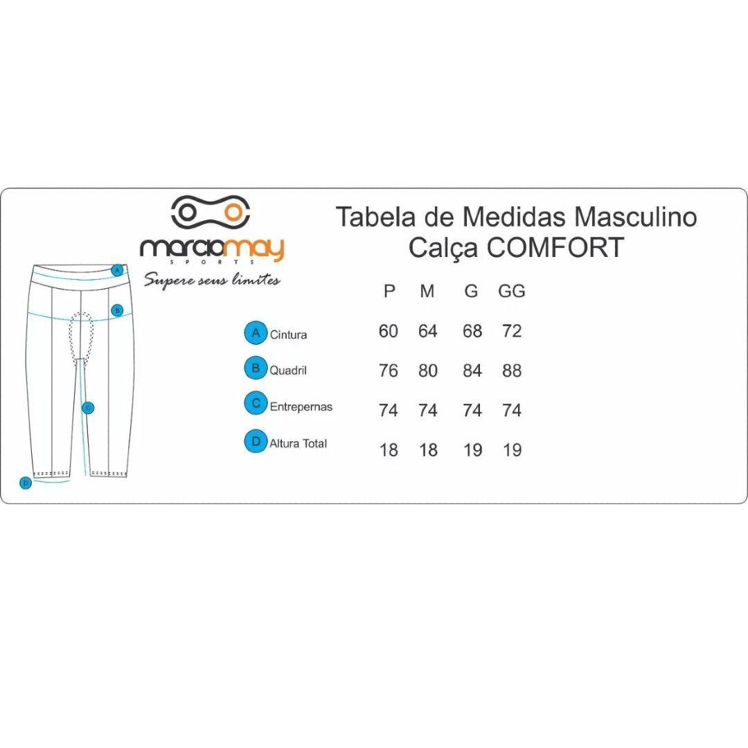 CALCA MARCIO MAY MASCULINA COMFORT PRETA CICLISMO 19