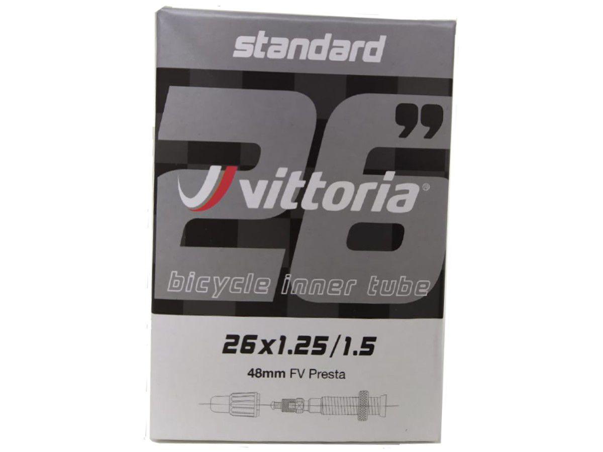 CAMARA 26X1.25/1.50 VITTORIA VALVULA PRESTA 48MM (1TA00023)