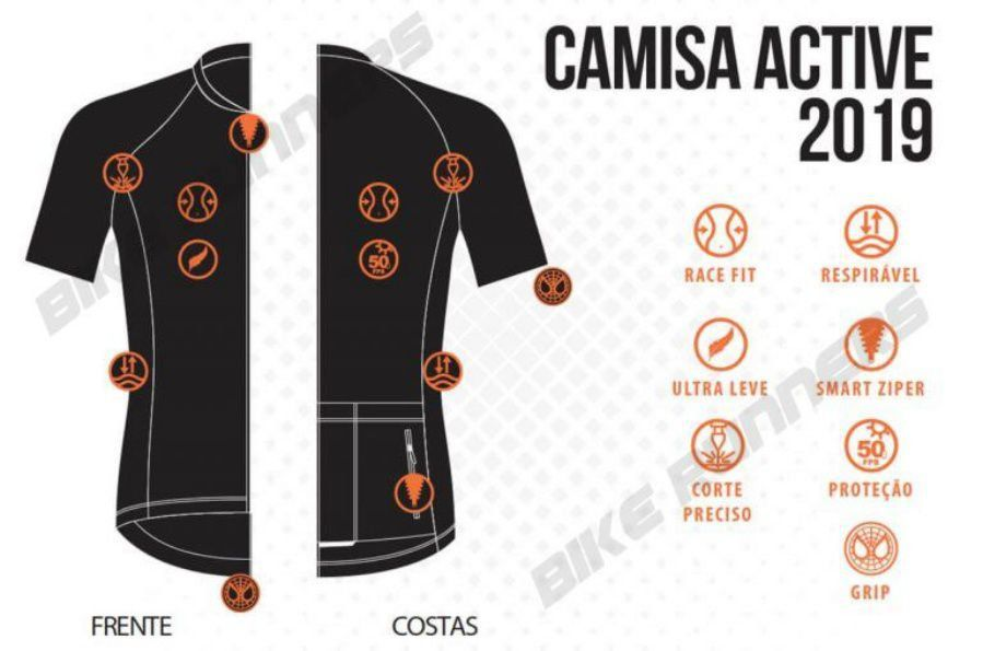 CAMISA ASW FEMININA ACTIVE CLUB ROSA E PRETA 19 CICLISMO