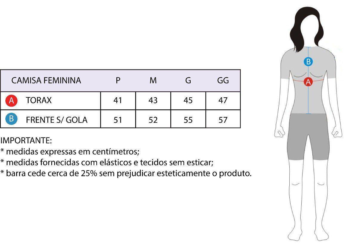 CAMISA ASW FEMININA ACTIVE QUEEN PRETA COLORIDA
