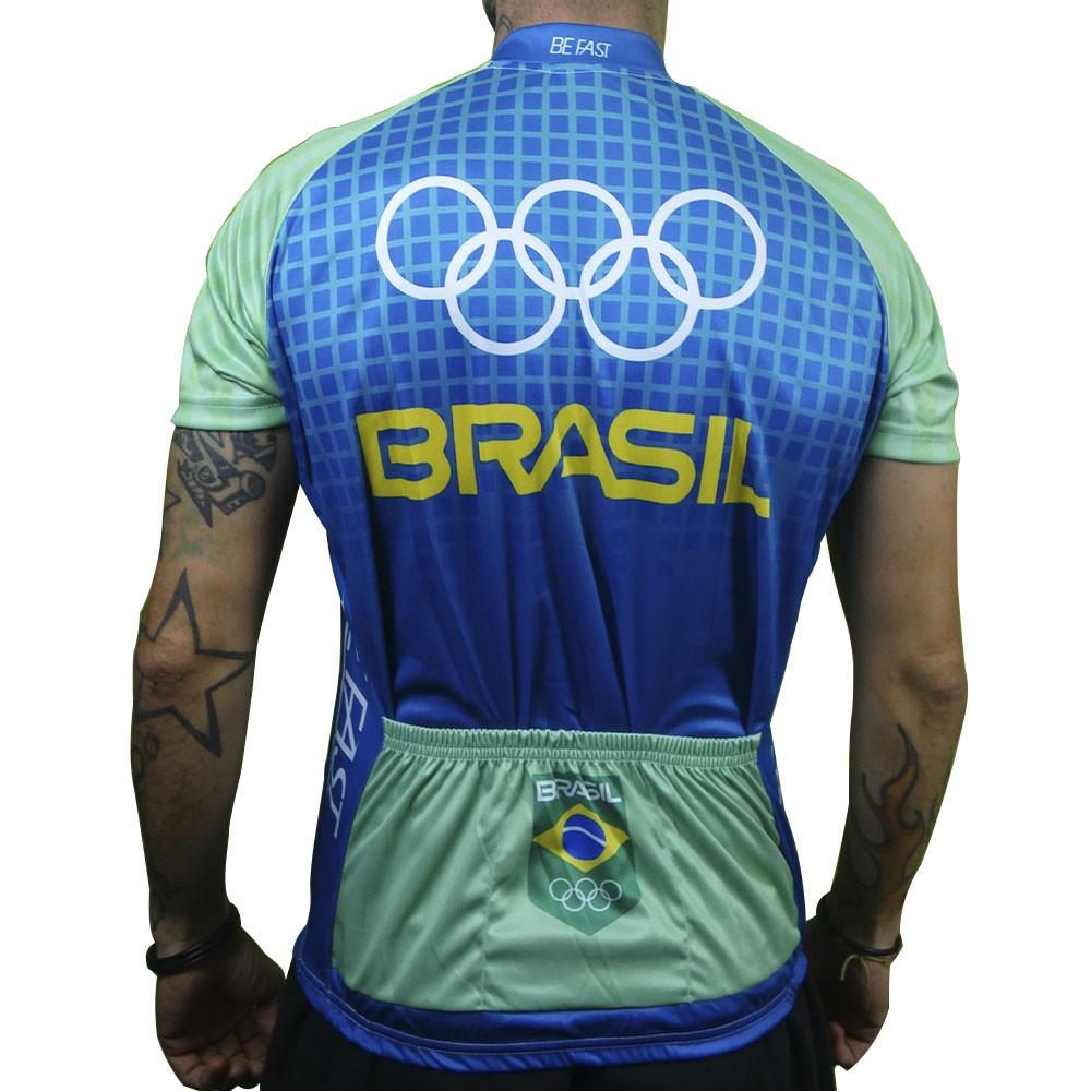 CAMISA BEFAST BRASIL OLIMPICO AZUL E VERDE