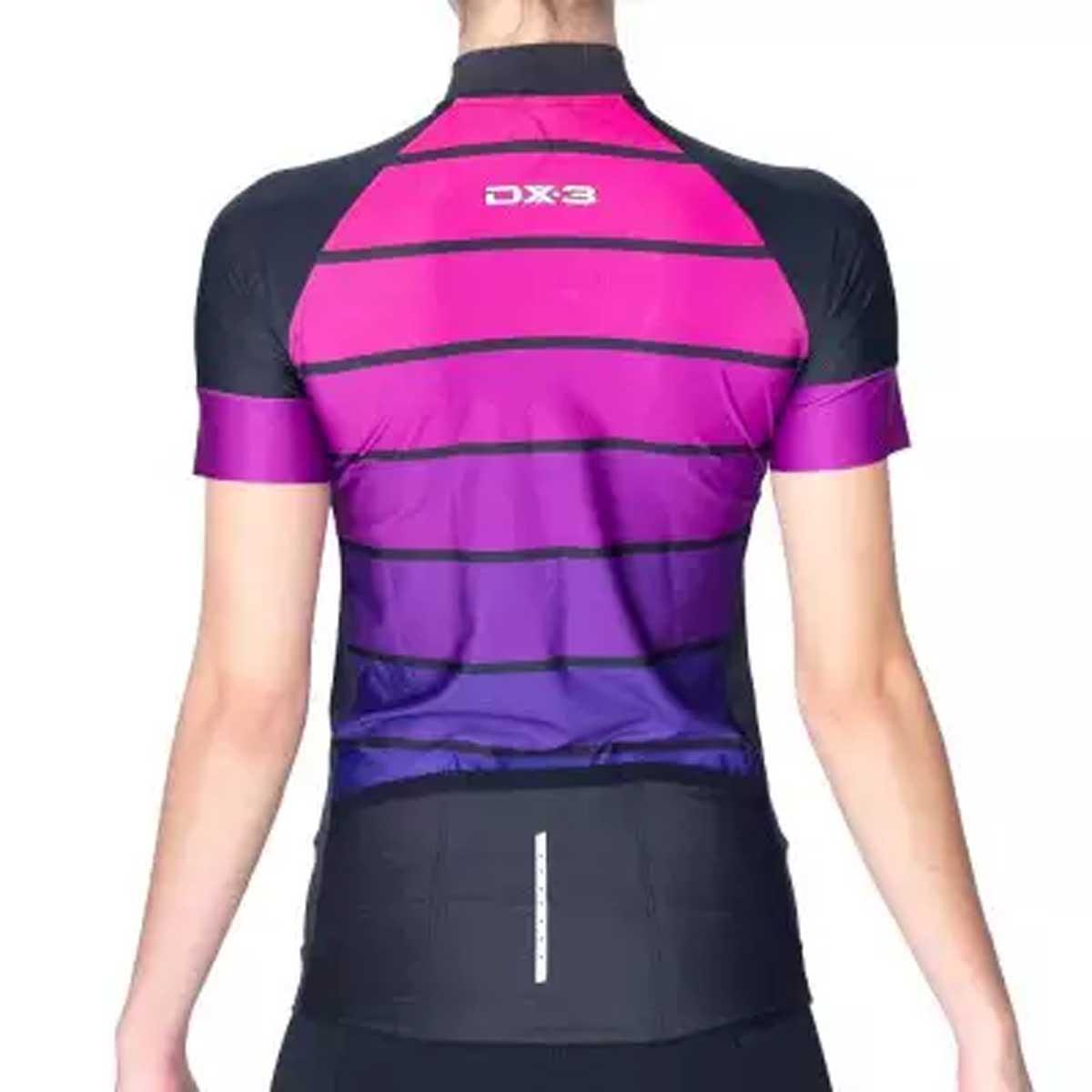 Camisa DX3 Feminina Fast 05 Preta e Rosa Ciclismo 21