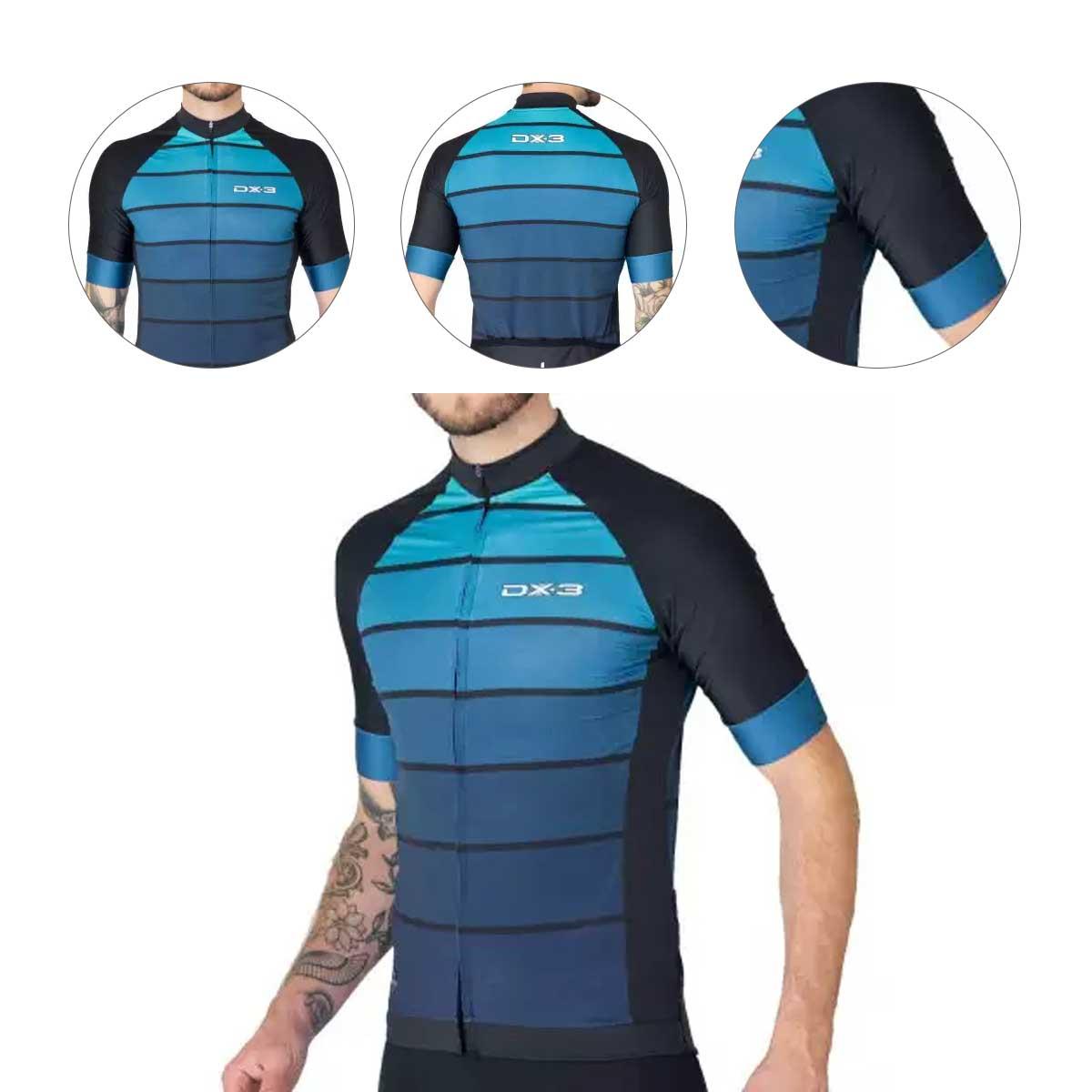 Camisa DX3 Masculina Fast 05 Preta e Verde Ciclismo 21