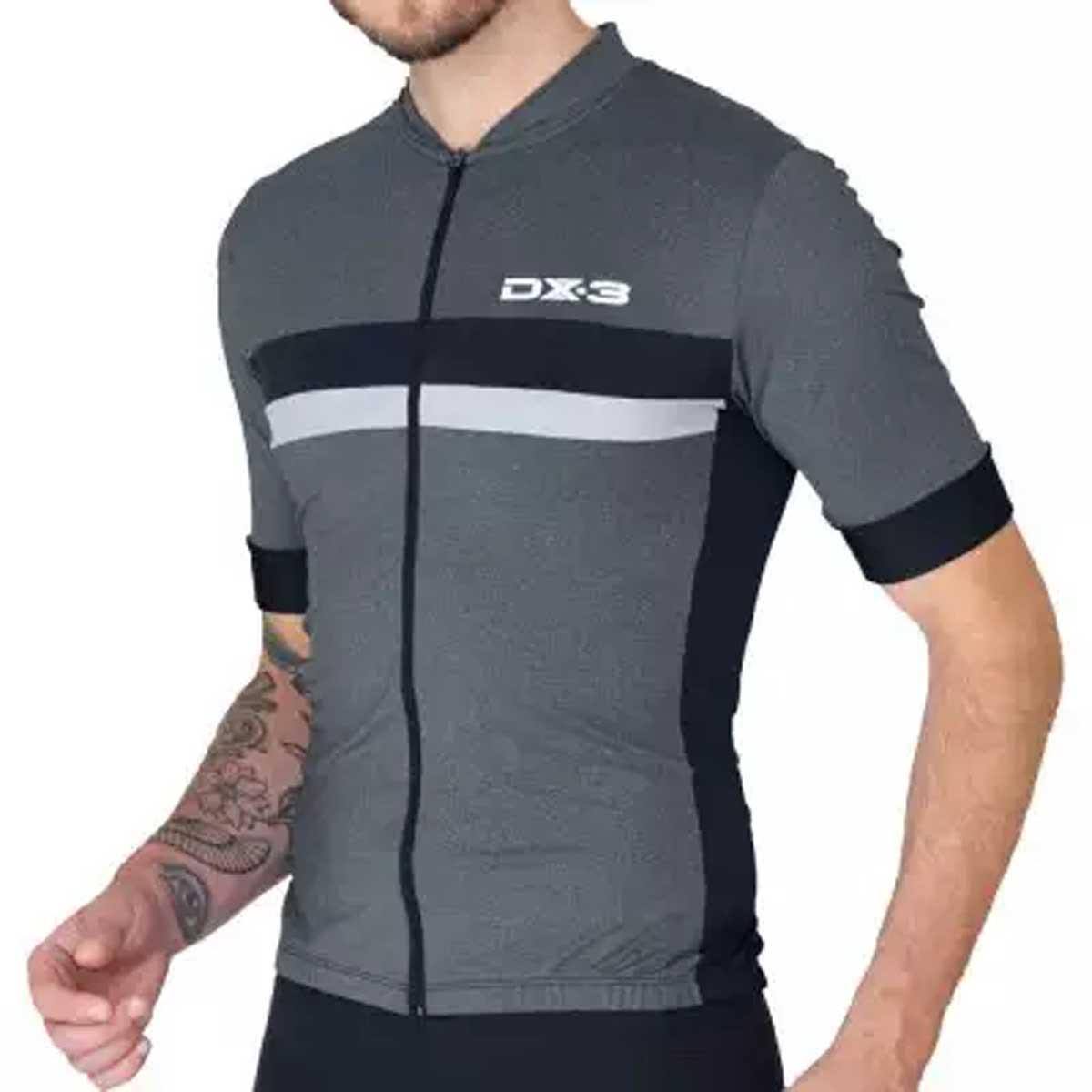 Camisa DX3 Masculina Ultra 05 Mescla e Cinza Ciclismo 21