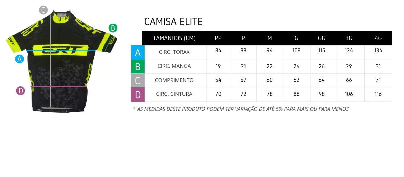 CAMISA ERT ELITE RACING AMARELA E PRETA CICLISMO 19