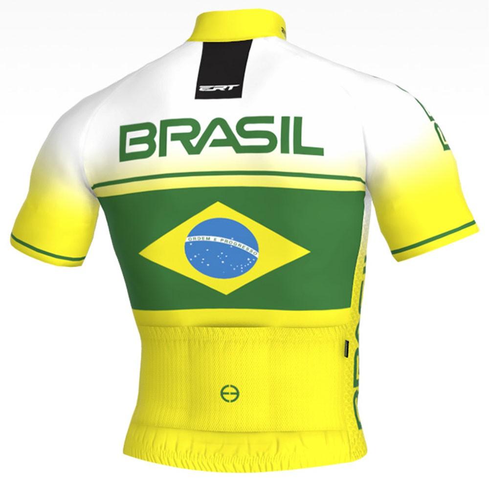 CAMISA ERT ELITE RACING BRASIL AMARELA E BRANCA CICLISMO 19