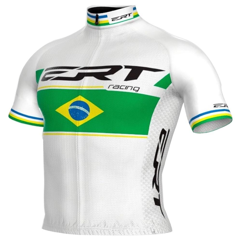 CAMISA ERT NEW ELITE RACING CAMPEAO BRASIL BRANCA CICLISMO 20
