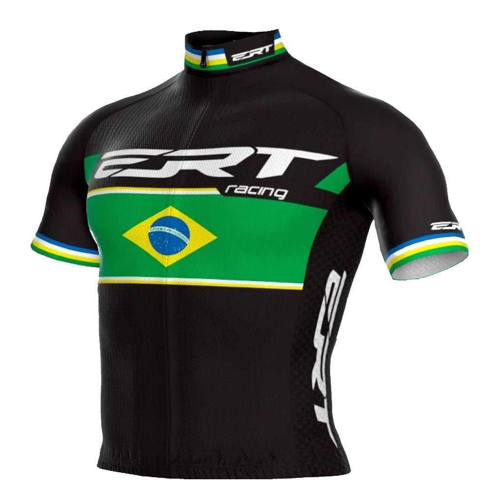 CAMISA ERT NEW ELITE RACING CAMPEAO BRASIL PRETA CICLISMO 20