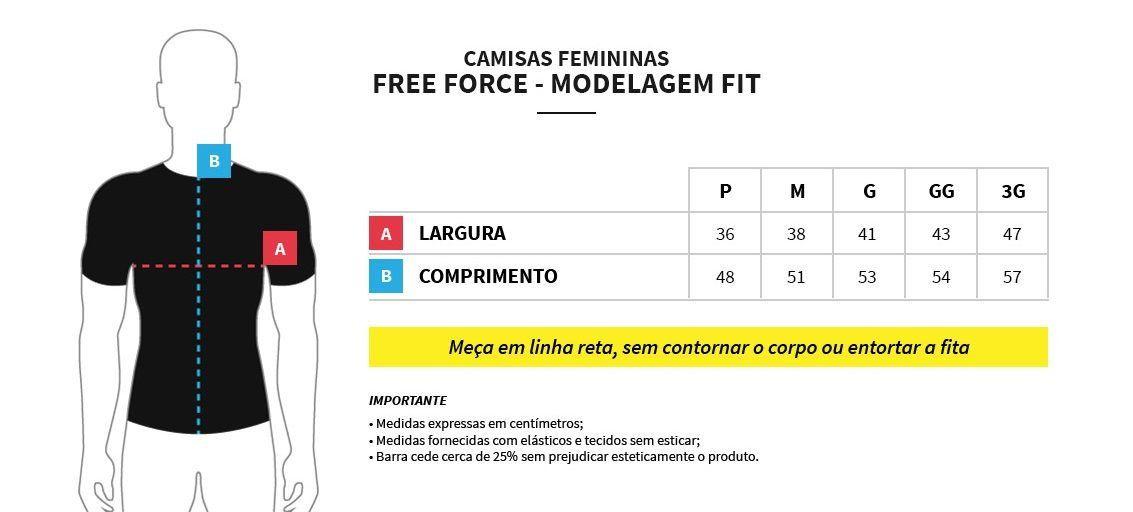 CAMISA FREEFORCE FEMININA CHOICE PRETA E BRANCA (MODELAGEM FIT) !