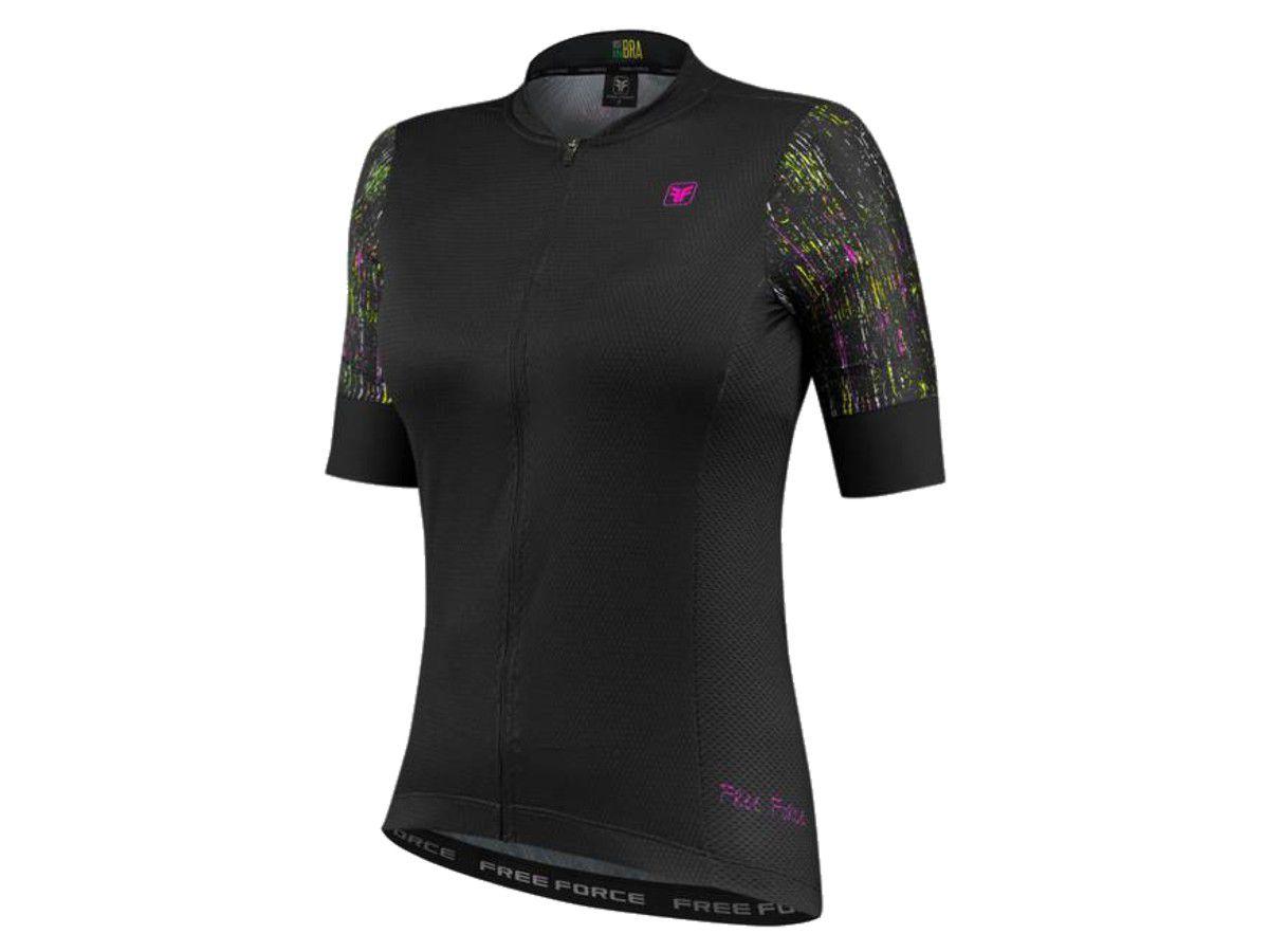 CAMISA FREEFORCE FEMININA SPORT DRAFT PRETA CICLISMO - Roupas Para Ciclista  - A maior loja de vestuário de ciclismo do Brasil.